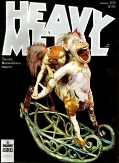Cover for Heavy Metal Magazine (HM Communications, Inc. Heavy Metal Comic, Heavy Metal Art, Metal Fan, Bruce Dickinson, Metal Magazine, Magazine Art, Magazine Covers, Power Metal, Fantasy Comics