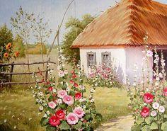 деревенский пейзаж - Схемы вышивки - Vikkki88 - Авторы - Портал «Вышивка крестом»