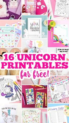 Easy Crafts, Diy And Crafts, Crafts For Kids, Paper Crafts, Unicorn Printables, Free Printables, Unicorn Foods, Unicorn Crafts, Business For Kids