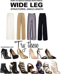 What to wear with wide leg pants? Today's styling tips here