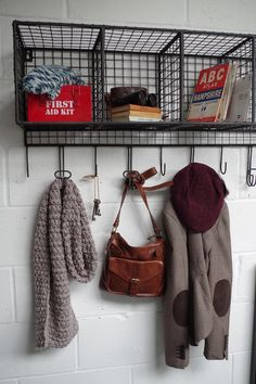 Wire Wall Storage With Hooks - Large | Wired | Vincent and Barn