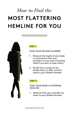 Have you heard of the mathematically proven way to find the most flattering hemline?