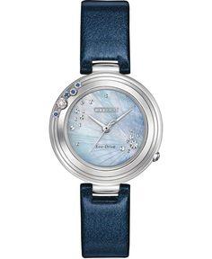 Citizen Citizen L Carina Blue Diamond Dial / Blue Leather Eco-Drive Quartz Women's Watch Rose Gold Watches, Wrist Watches, Ladies Watches, Women's Watches, Lady L, Limited Edition Watches, Citizen Eco, Blue Band, Vintage Watches
