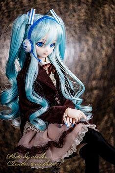 雪ミク肖像写真風 Yuki Miku (Snow Miku) Portrait