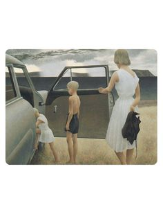 Alex Colville - Family and Rainstorm 1955