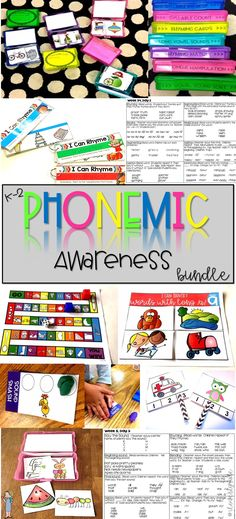 This 415 page bundle includes ALL you need to teach phonemic awareness! This curriculum has 36 weeks daily lesson plans, centers, independent practice activities and can be used as phonemic awareness intervention.