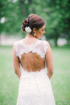 Loving the back of this wedding dress! {Dress Designer: Shirley Ferrell; Photo: Cortney Smith Photography}