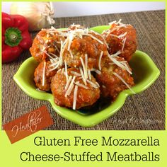 Stuffed Gluten Free Meatballs. Use ground beef, turkey Italian sausage ...
