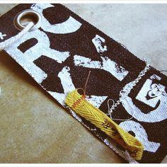 hmm, good idea for scrap fabrics/hang tags for garments...