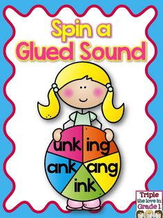 These great sheets are perfect for a literacy center! Students need a pencil and paper clip for a spinner or use a clear plastic spinner. They spin and write the letter in the box. They then trace the glued sound and write the word they made on the line. Perfect practice! These are 5 of the glued sounds introduced in Fundations (FIRST GRADE) Unit 7.
