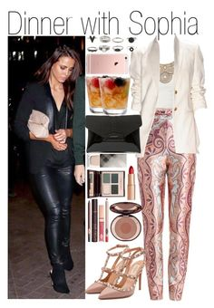 """""""Dinner with Sophia"""" by praradise ❤ liked on Polyvore featuring Zimmermann, Bebe, Valentino, Givenchy, Charlotte Tilbury and Burberry"""