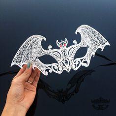 Create a new Etsy account. Raven Mask, Bat Mask, Wolf Mask, Bird Masks, White Masquerade Mask, Masquerade Ball, Haunted House Props, Halloween Haunted Houses, Vincent Van Gogh