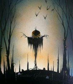Sinister pumpkin scarecrow