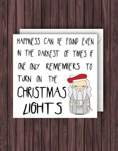 Harry Potter Christmas Card Geek Blank Funny Greetings