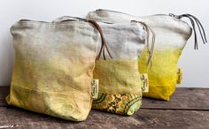 Items similar to Eco bags- Makeup Bag/ Purse- Ombre Yellow Natural Dye on Etsy Home Decor Accessories, Purses And Bags, June, Throw Pillows, How To Make, Design, Cushions, Design Comics