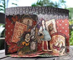 Susan Lui Graphic 45 Magic of Oz Card 4 Bon Voyage Cards, Magic Of Oz, Paper Art, Paper Crafts, Scrapbook Cards, Scrapbooking, Card Patterns, Handmade Books, Graphic 45