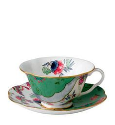 RP: Wedgwood Butterfly Bloom Cup and Saucer - Butterfly Posy - thebowlcompany.com