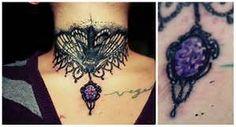 Dimonds Tattoo : Moth collar tattoo diamond front neck -at: amano tattoo shop. - Buy Me Diamond Neck Tattoos Women, Cute Tattoos For Women, Tattoos For Guys, Tattoo Women, Sunflower Tattoo Shoulder, Small Shoulder Tattoos, Wave Tattoo Design, Tattoo Designs, Tattoo Ideas
