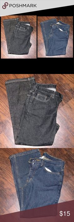 2 pair of jeans Like New condition my brother in law didn't like the way they fit him. Faded Glory Jeans Relaxed
