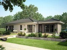 Concept-M 100 V5 – Bungalow • Singlehaus von Bien-Zenker • Luxuriöser Bungalow mit Wellness-Bad und Sauna • Jetzt bei Musterhaus.net informieren!