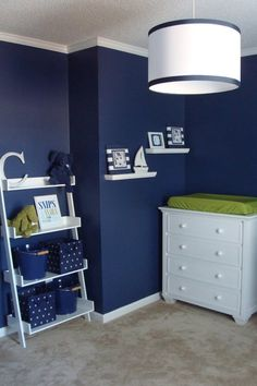 Navy & Lime: cute for a boy room