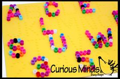 Alphabet Fuse Bead Busy Bags - Learn your letters