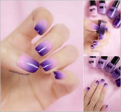 Two Tone Nail Polish Designs Ideas Pictures0014