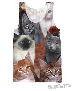 Cats Collage Tank Top