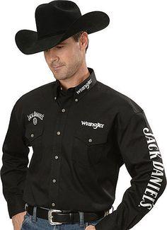 Wrangler Mens Jack Daniel's Shirt M Ed Black Cowboy Outfit For Men, Cowboy Outfits, Country Outfits, Jack Daniels Shirt, Jack Daniels Logo, Rodeo Shirts, Western Shirts, Chemises Country, Westerns
