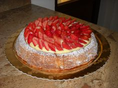 Baba's chantilly and strawberries