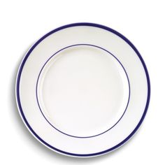 Brasserie Blue-Banded Porcelain Dinner Plates | Williams-Sonoma Wedding Gift Registry #weddingregistry #williamssonoma