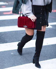 Velvet Love Crossbody | Rebecca Minkoff | Street Style | @hauteofftherack
