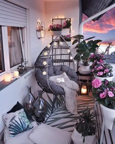 comfy apartment balcony decorating ideas on a budget 2019 page 12 – Home Decor Ideas – Grandcrafter – DIY Christmas Ideas ♥ Homes Decoration Ideas Small Balcony Design, Small Balcony Decor, Balcony Ideas, Balcony Decoration, Modern Balcony, Outdoor Balcony, Balcony Garden, Outdoor Spaces, Conservatory Ideas