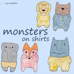 grafik monsters on shirts