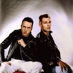 Joe Strummer and Paul Simonon photographed by Peter Ashworth.