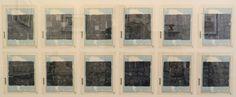 Henrique Faria Fine Art - REITERATIONS - Horacio Zabala    Record de ocultamientos, 1973. Rubber stamp on printed map. 9 ⅜ x 7 ½ in. (23.8 x 19 cm.)