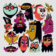 Creative Character, Scoundrels, Lee, Monsters, and Illustration image ideas & inspiration on Designspiration Monster Illustration, Halloween Illustration, Fun Illustration, Character Illustration, Edition Jeunesse, Doodle, Art Plastique, Character Design Inspiration, Illustrations Posters