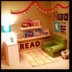 Reading nook ideas under stairs reading corner for kids reading nook ideas under stairs . Toy Rooms, Kids Rooms, Kids Corner, Reading Corner Kids, Kitchen Corner, Reading Nooks For Kids, Diy Kitchen, Preschool Reading Area, Mini Reading