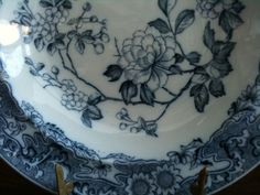 Antique Blue  Deep Plate by English Shop, www.silver-and-grey.com