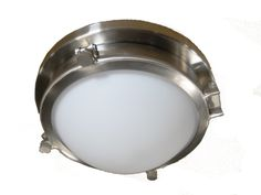 Tailored Ceiling Light | Polished Chrome | Opal Glass Bowl | Classic | Custom Made by iWorks