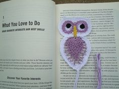 New Gift Handmade Crochet Pineapple Owl Bird Doily Bookmark