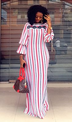 Gown Source by Wafems fashion dresses Short African Dresses, Latest African Fashion Dresses, African Print Fashion, African Print Dress Designs, Casual Chique, Kitenge, Moda Emo, African Attire, The Dress