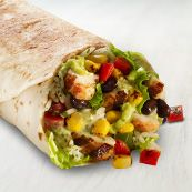 Taco Bell is stepping it up:  citrus-herb marinated chicken, cilantro rice, flavorful black beans, guacamole made from real Hass avocados, roasted corn & pepper salsa, a creamy cilantro dressing, and freshly-prepared pico de gallo, all wrapped in a warm flour tortilla.