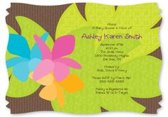 Luau - Squiggle Shaped Baby Shower Invitations $1.49