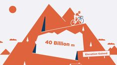 The Big Adventure – 2015 Animated Cycling News, Big Data, Community, Animation, Activities, Adventure, Climbing, Illustration, Effort