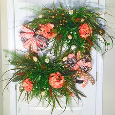 Check out this item in my Etsy shop https://www.etsy.com/listing/235923531/spring-wreath-hydrangeas-wreath-summer