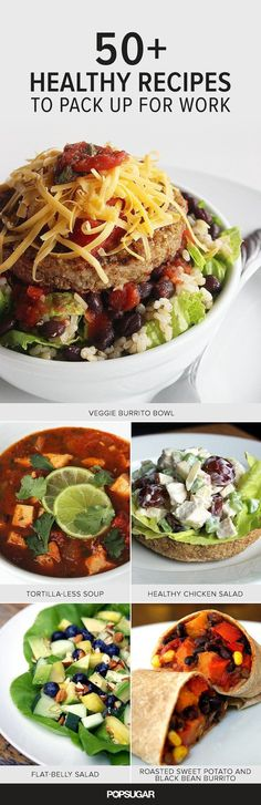 Whether or not you're trying to lose weight, bringing your own lunch to work keeps you in charge of the ingredients that fuel your body and helps you perform at your best both at work and in the gym. Regardless of your dietary limitations, (at least!) one of these healthy recipes will fit the bill and make its way into your lunchtime rotation.