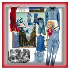"""Beverly Hillbillies"" by bren-johnson ❤ liked on Polyvore featuring Dot & Bo, Splendid, Love Moschino, Paige Denim, Sally&Circle, Boohoo, Moschino, LE3NO, J Brand and Bergè"
