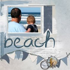 Do this as a non-digital journal page. Last additions - Beach Memories - Scrap Art Studio Gallery
