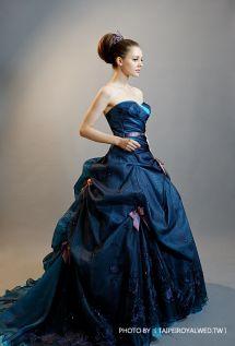 戀愛進化論 蕾 - DEEP BLUE DRESSES / FORMAL WEDDING - TaipeiRoyalWed.tw 台北蘿亞結婚精品 丈青色晚禮服